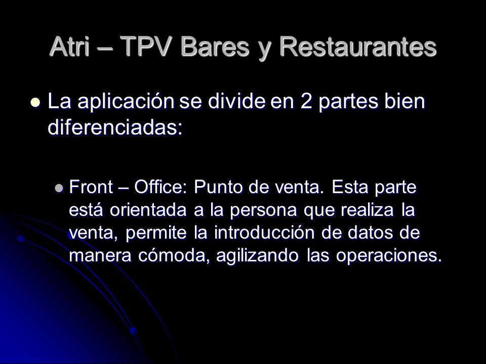 Atri – TPV Bares y Restaurantes
