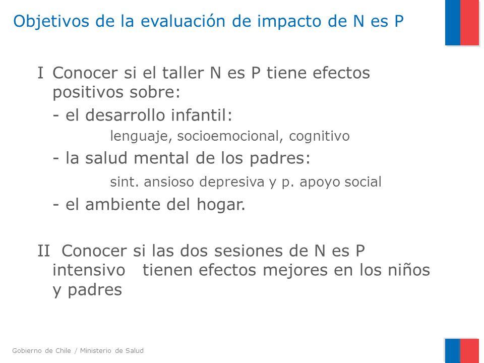 Objetivos de la evaluación de impacto de N es P