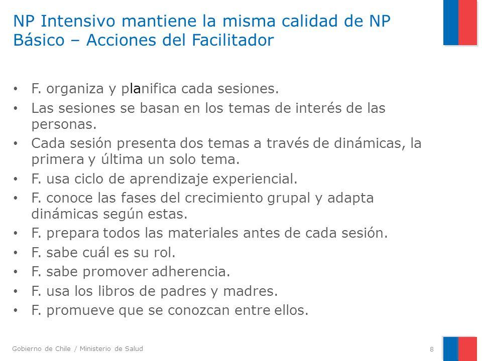 NP Intensivo mantiene la misma calidad de NP Básico – Acciones del Facilitador