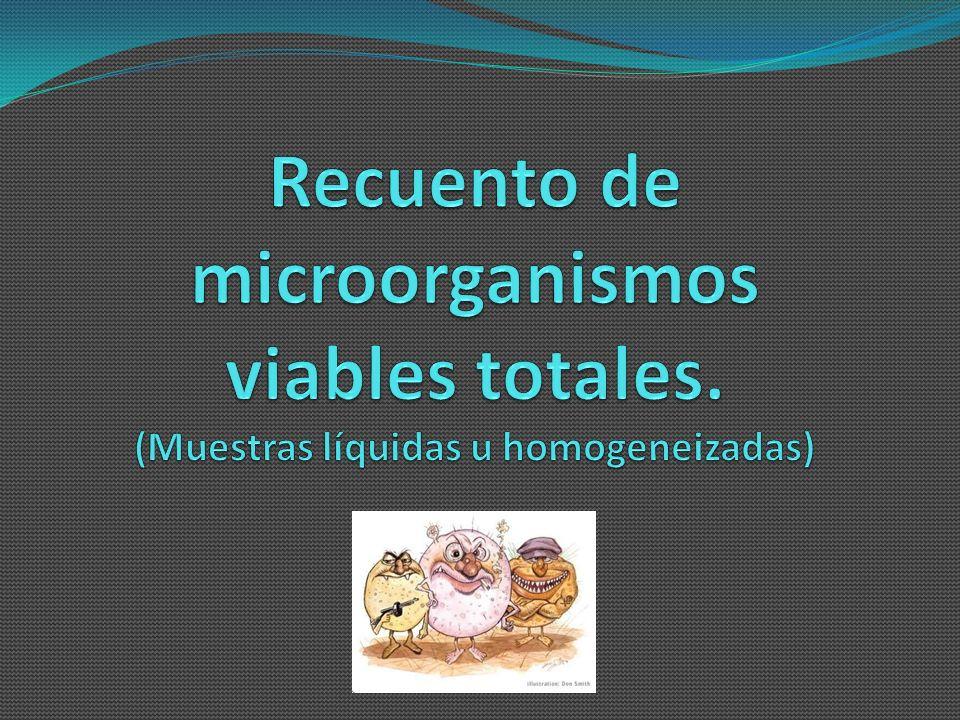 Recuento de microorganismos viables totales