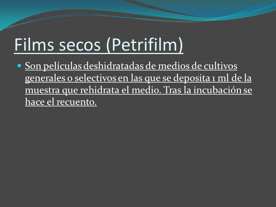 Films secos (Petrifilm)
