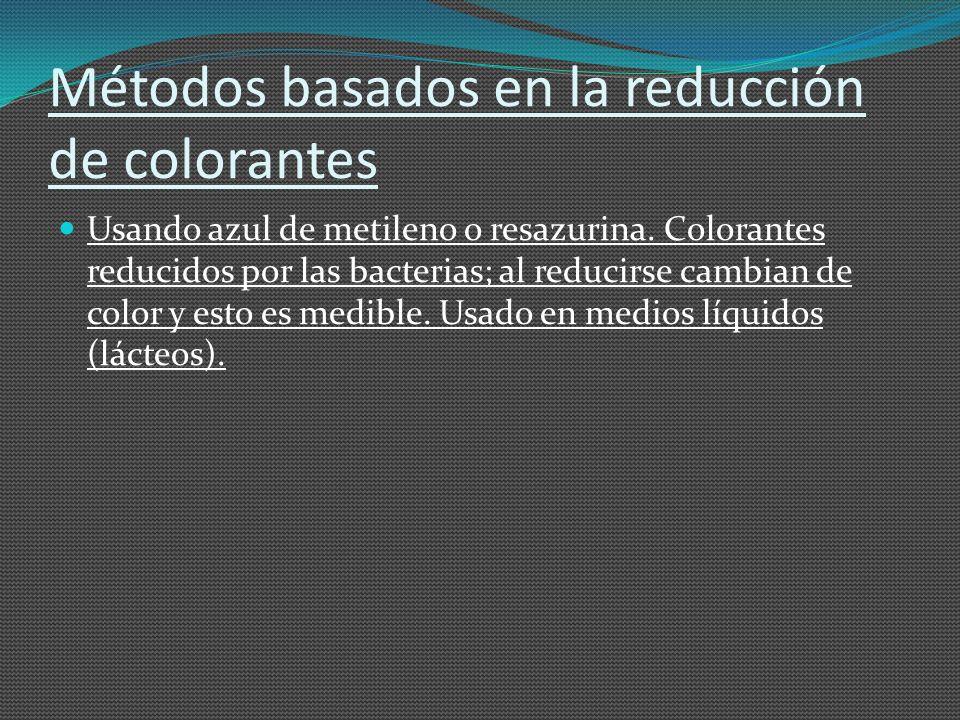 Métodos basados en la reducción de colorantes
