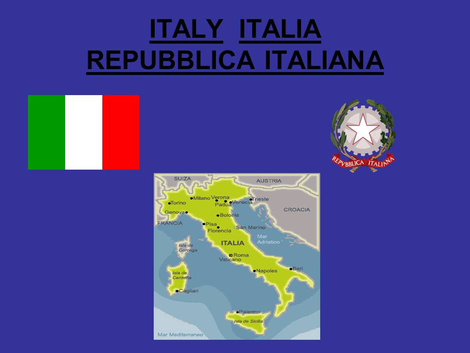 ITALY ITALIA REPUBBLICA ITALIANA