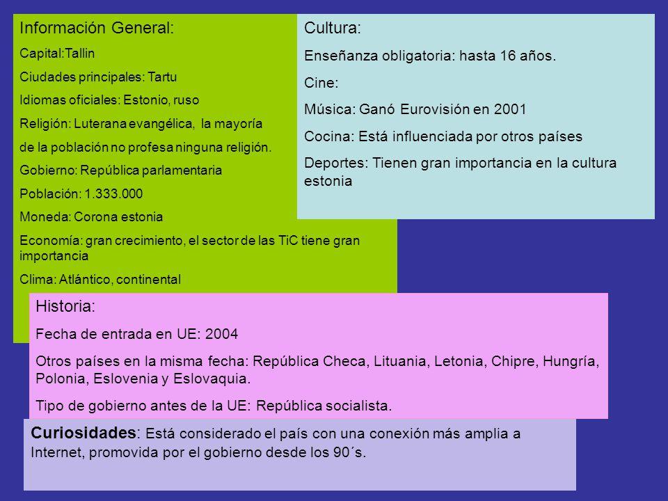 Información General: Cultura: Historia: