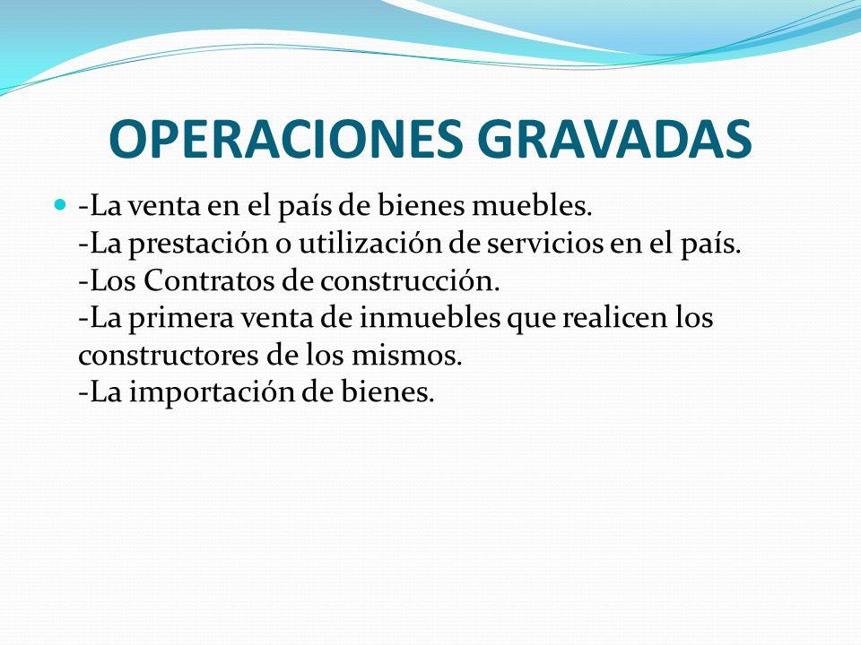 OPERACIONES GRAVADAS