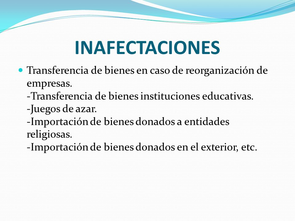 INAFECTACIONES
