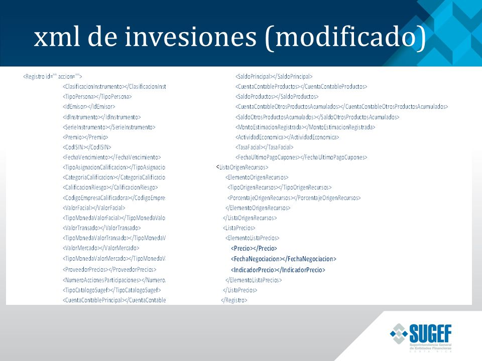 xml de invesiones (modificado)