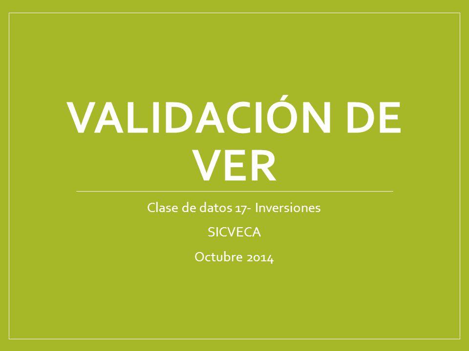Clase de datos 17- Inversiones SICVECA Octubre 2014