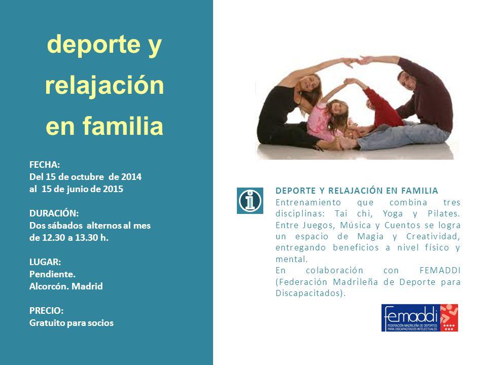 deporte y relajación en familia