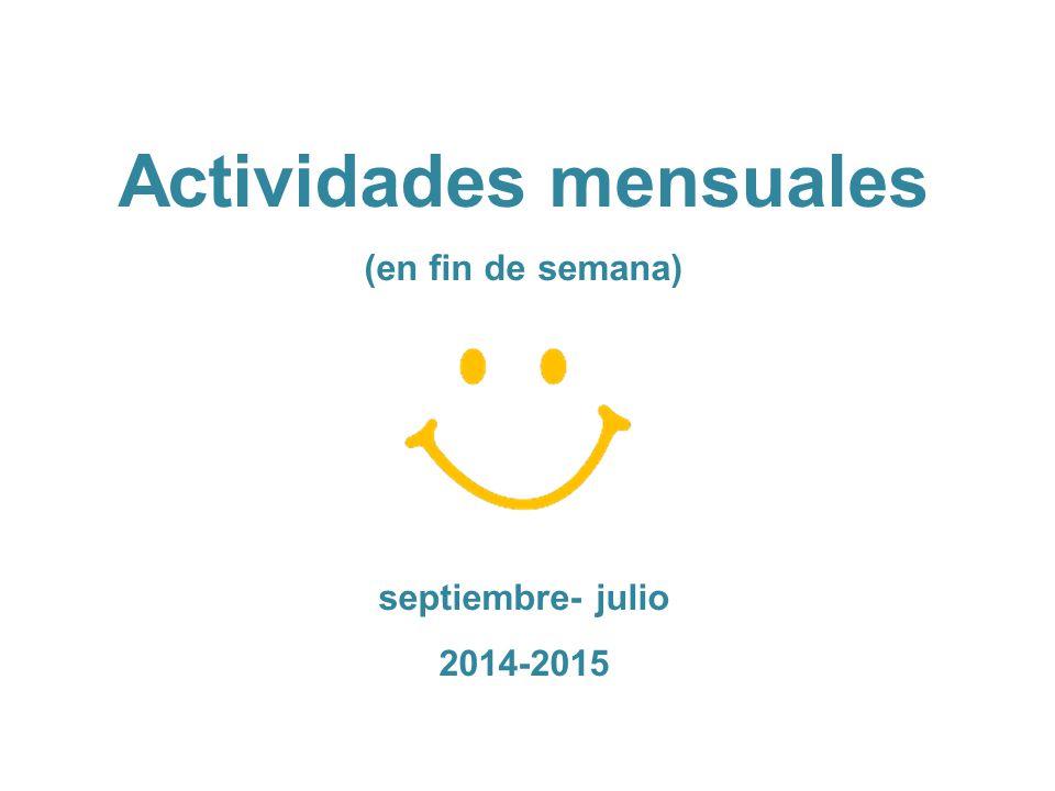 Actividades mensuales