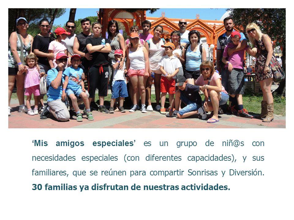 'Mis amigos especiales' es un grupo de niñ@s con necesidades especiales (con diferentes capacidades), y sus familiares, que se reúnen para compartir Sonrisas y Diversión.