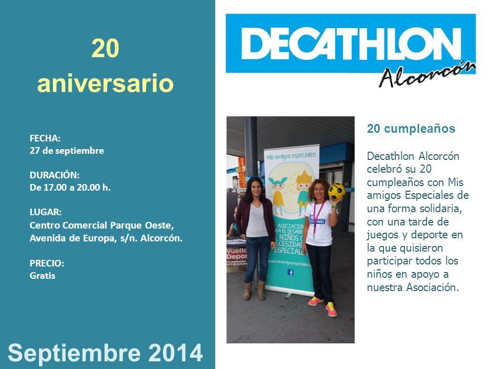 20 aniversario Septiembre 2014 20 cumpleaños