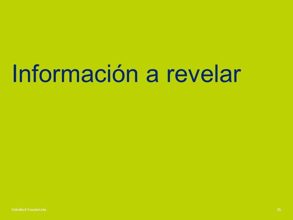 Información a revelar Deloitte & Touche Ltda.