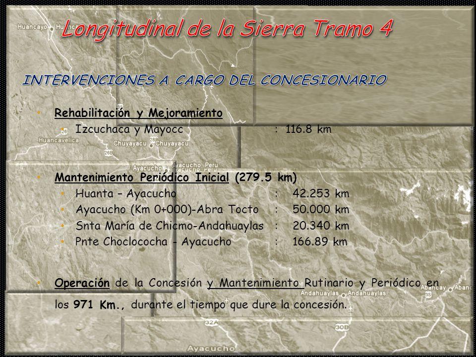 INTERVENCIONES A CARGO DEL CONCESIONARIO