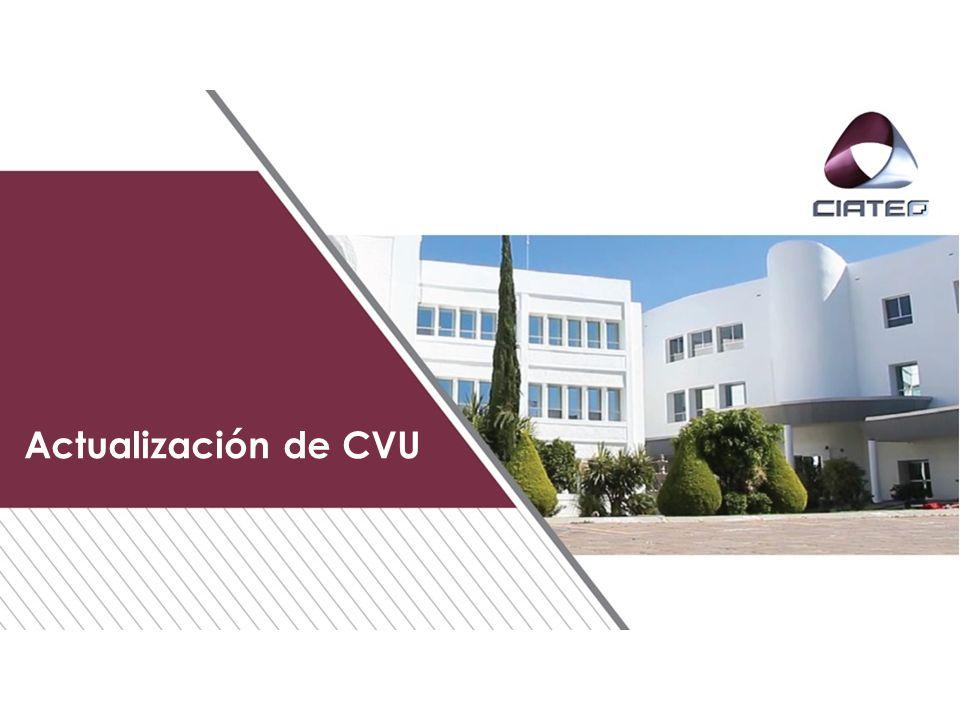 Actualización de CVU