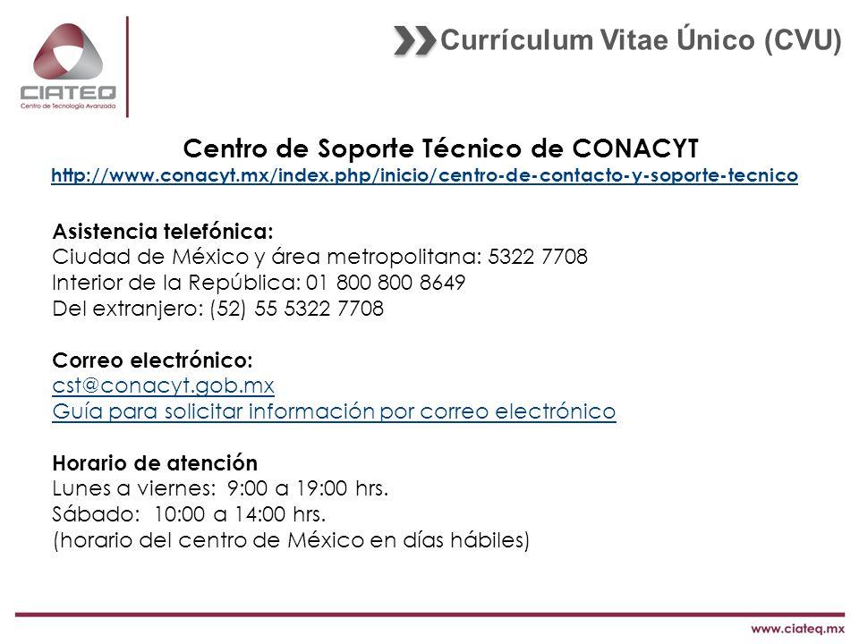 Centro de Soporte Técnico de CONACYT
