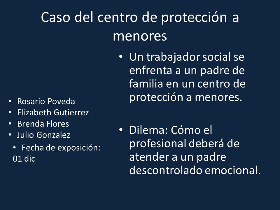 Caso del centro de protección a menores