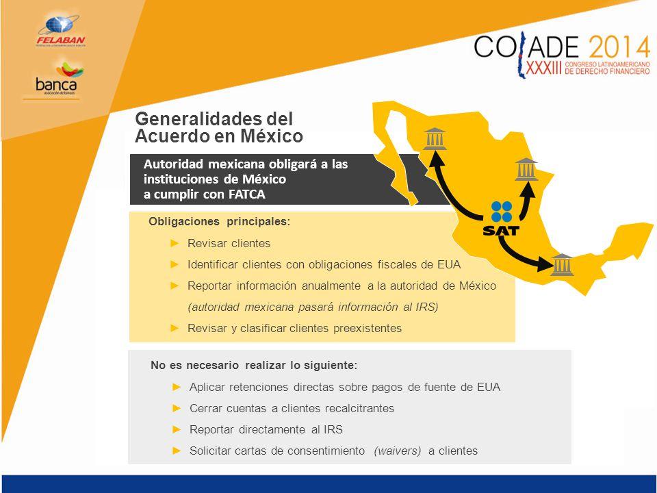 Generalidades del Acuerdo en México