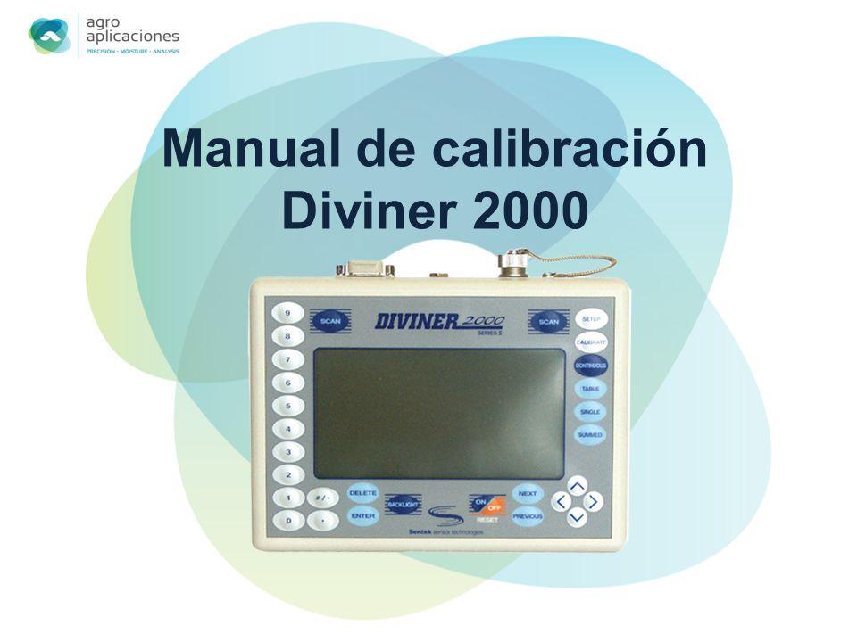 Manual de calibración Diviner 2000