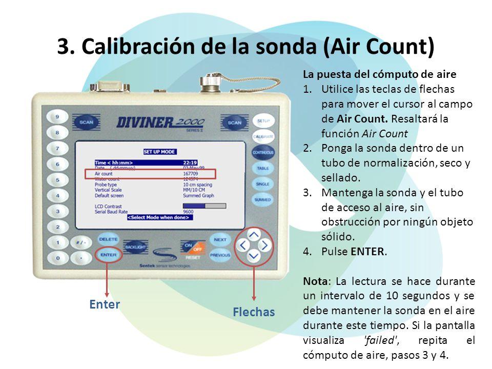 3. Calibración de la sonda (Air Count)