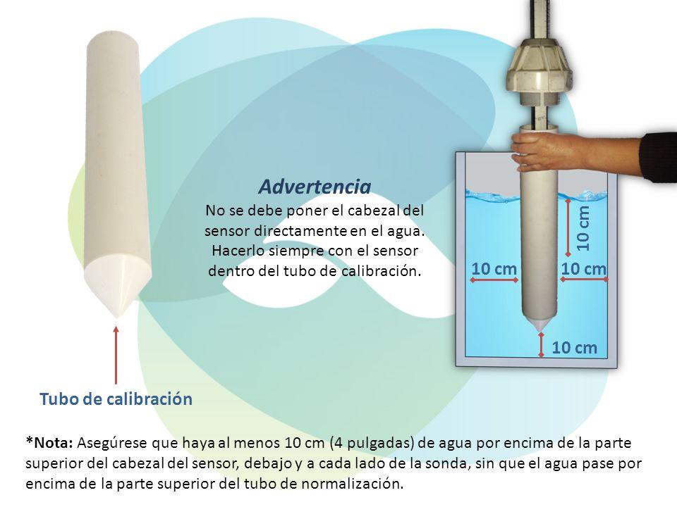 Advertencia 10 cm Tubo de calibración
