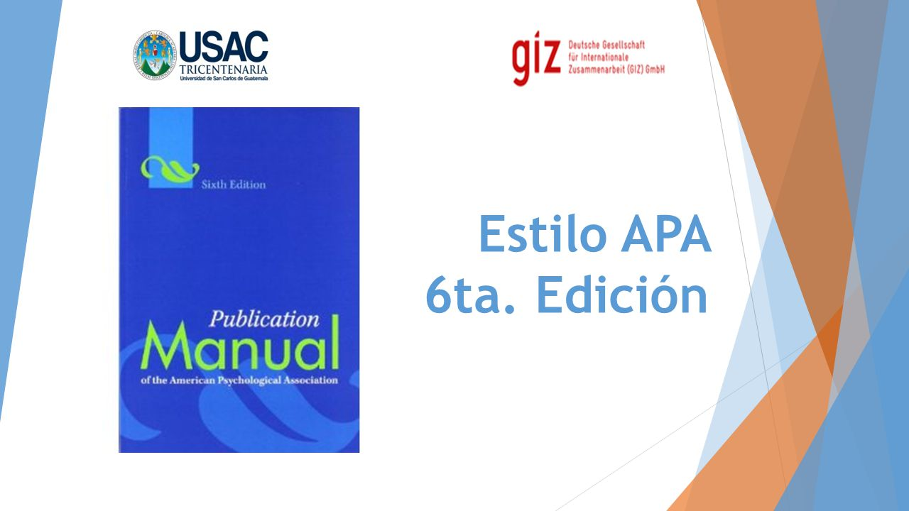 Estilo APA 6ta. Edición