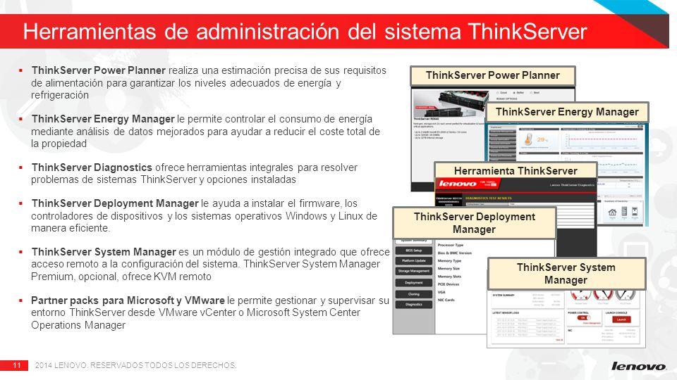 Herramientas de administración del sistema ThinkServer