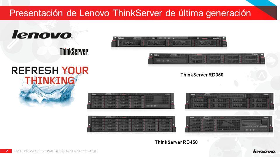 Presentación de Lenovo ThinkServer de última generación
