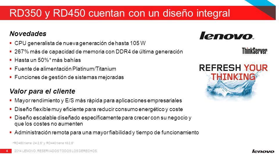 RD350 y RD450 cuentan con un diseño integral