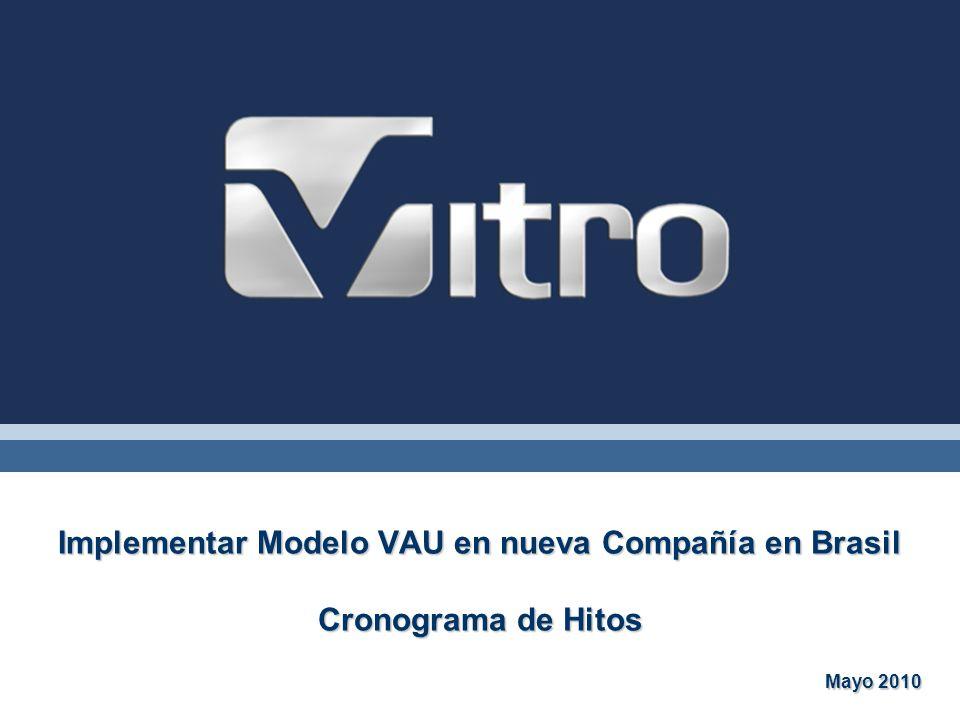 Implementar Modelo VAU en nueva Compañía en Brasil Cronograma de Hitos
