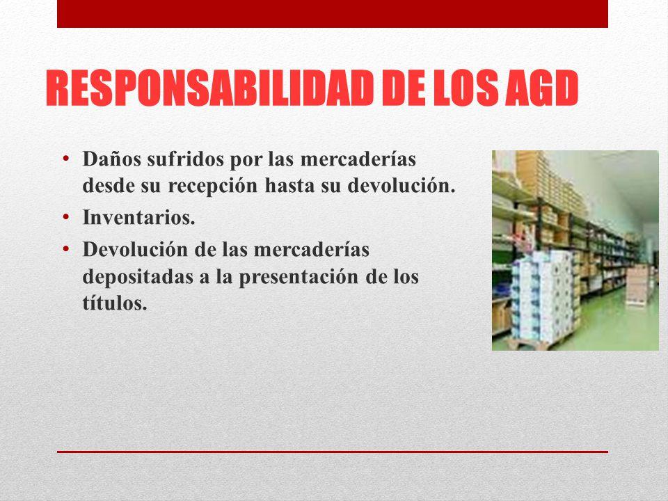RESPONSABILIDAD DE LOS AGD