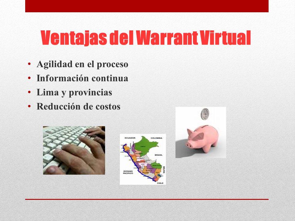 Ventajas del Warrant Virtual