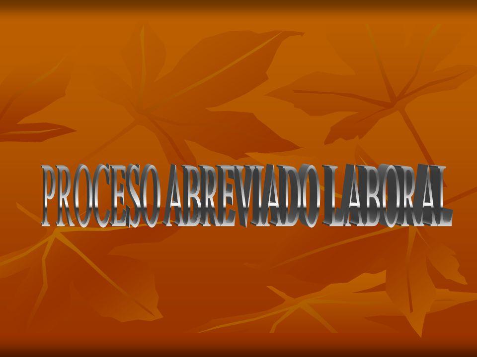 PROCESO ABREVIADO LABORAL