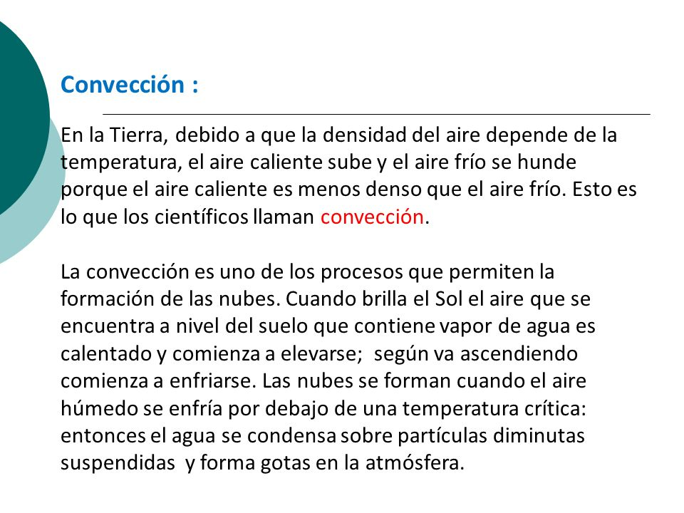 Convección :