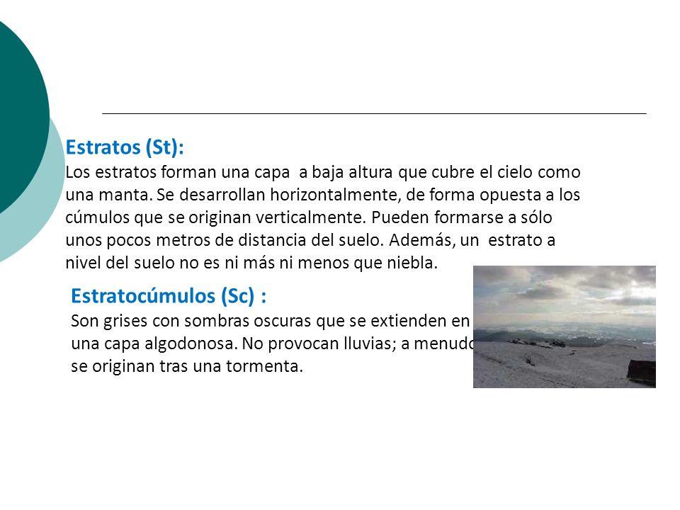 Estratos (St): Estratocúmulos (Sc) :