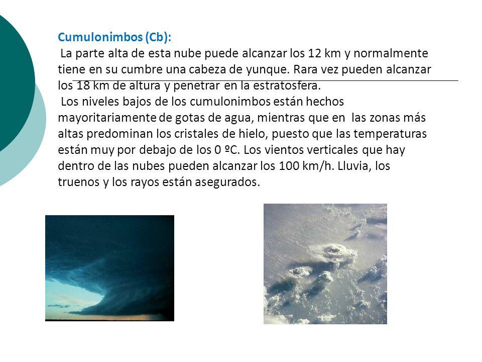 Cumulonimbos (Cb):