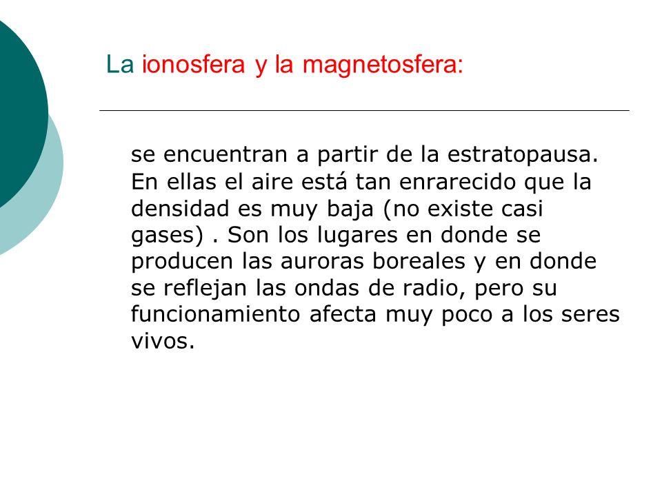 La ionosfera y la magnetosfera: