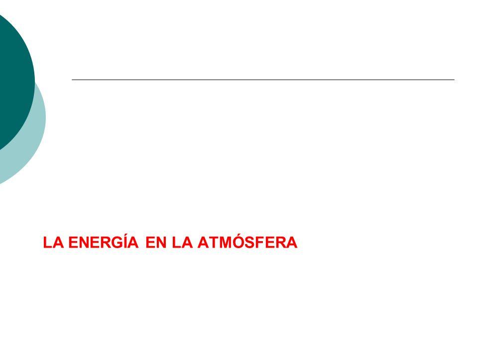 LA ENERGÍA EN LA ATMÓSFERA