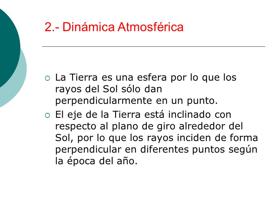 2.- Dinámica Atmosférica