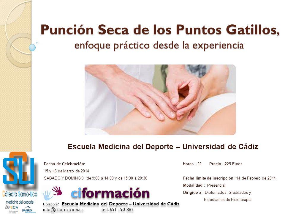 Escuela Medicina del Deporte – Universidad de Cádiz