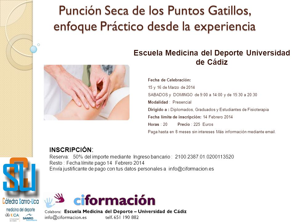 Escuela Medicina del Deporte Universidad de Cádiz