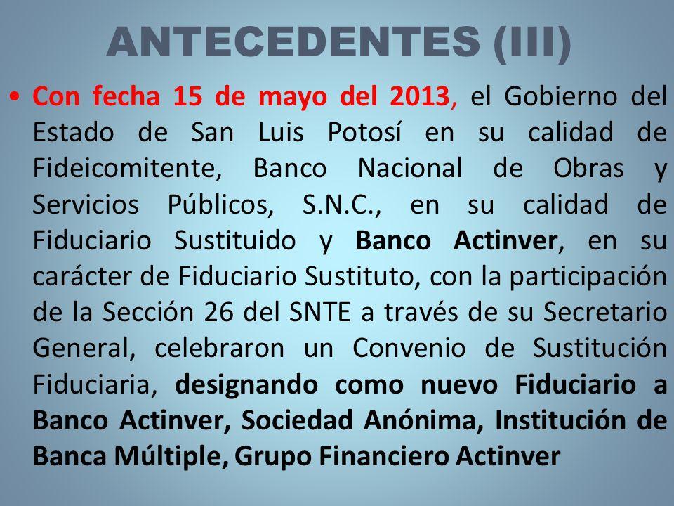 ANTECEDENTES (III)