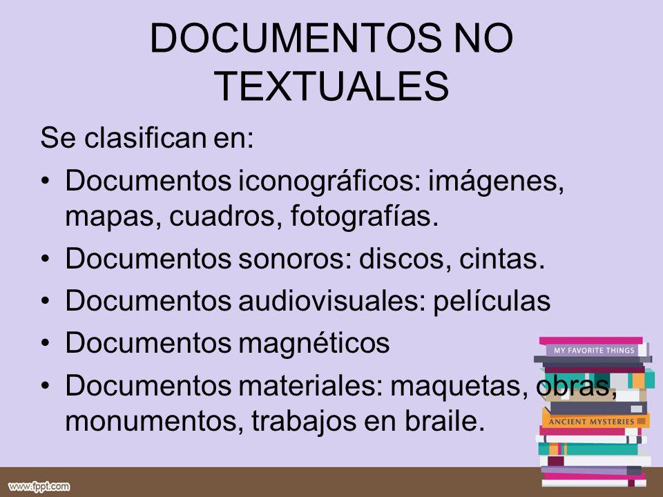 DOCUMENTOS NO TEXTUALES