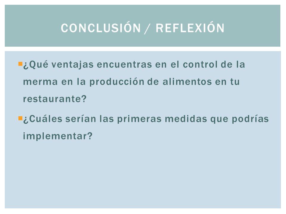Conclusión / Reflexión