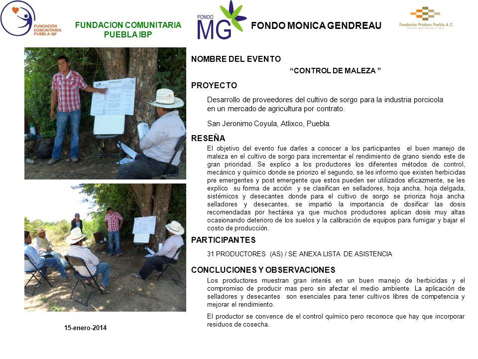FUNDACION COMUNITARIA PUEBLA IBP