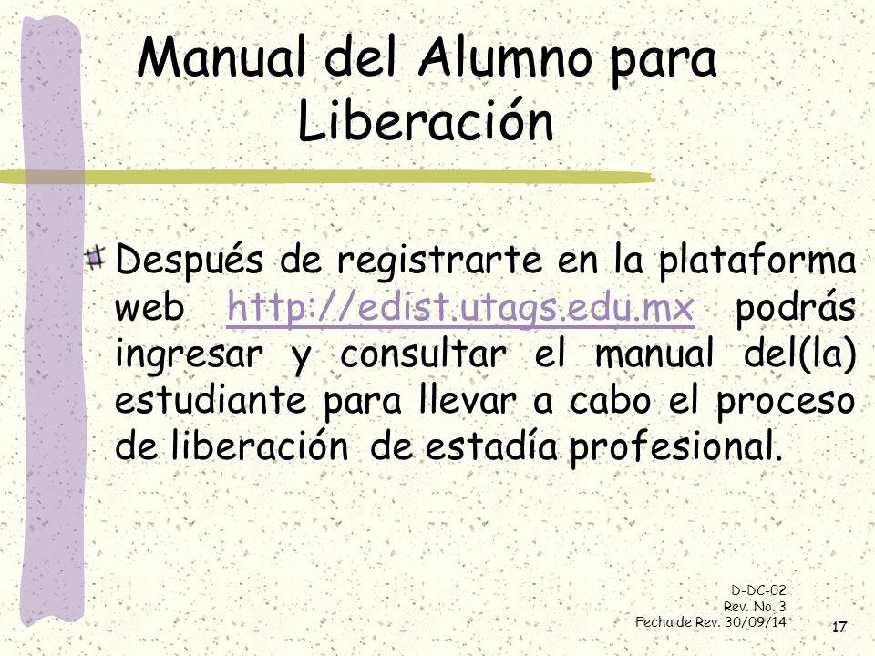 Manual del Alumno para Liberación