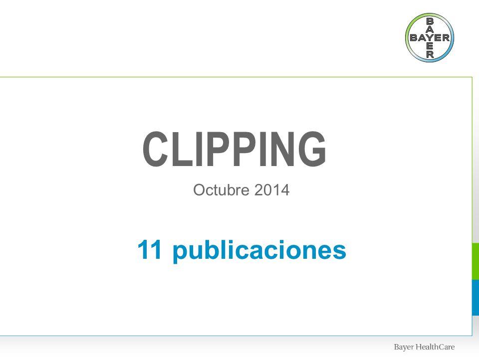 CLIPPING Octubre 2014 11 publicaciones