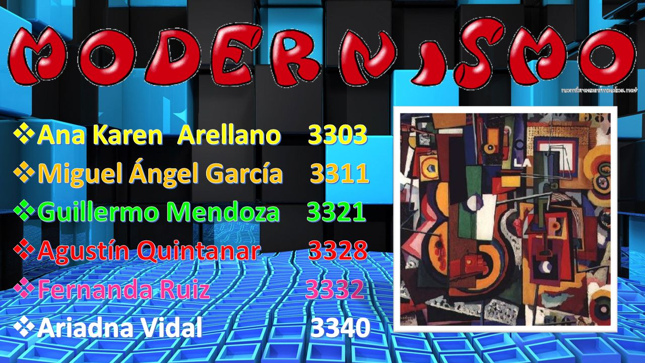 Ana Karen Arellano 3303 Miguel Ángel García 3311. Guillermo Mendoza 3321. Agustín Quintanar 3328.