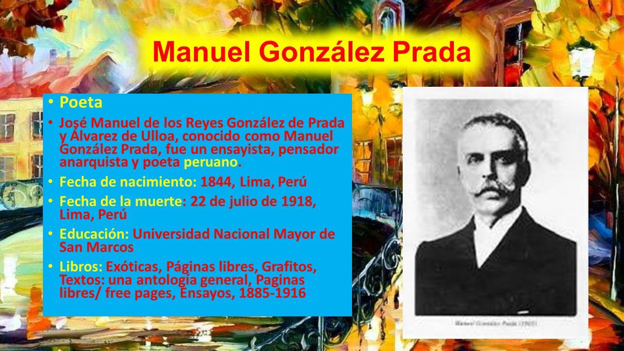 Manuel González Prada Poeta