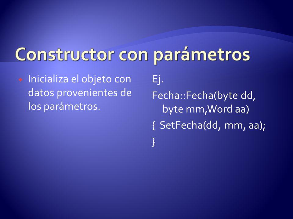 Constructor con parámetros